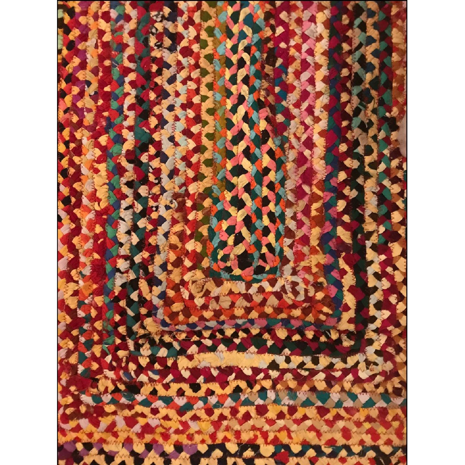 The Curated Nomad Grove Handmade Braided Cotton Area Rug-1