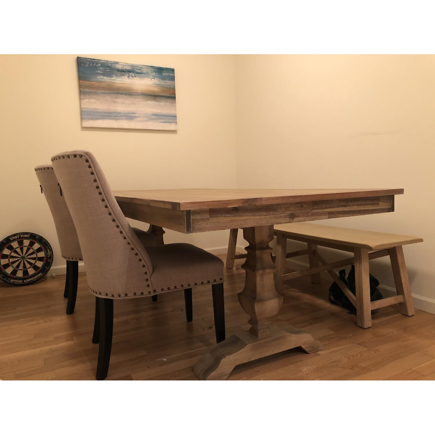 Fantastic Pier 1 Bradding Collection Shadow Gray Dining Table Aptdeco Ocoug Best Dining Table And Chair Ideas Images Ocougorg
