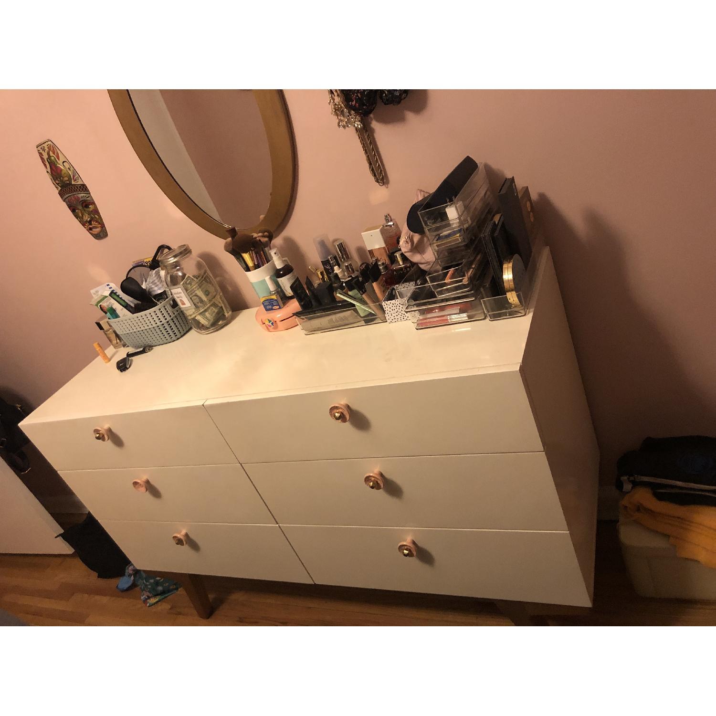 West Elm Modern 6 Drawer Lacquer Dresser-0