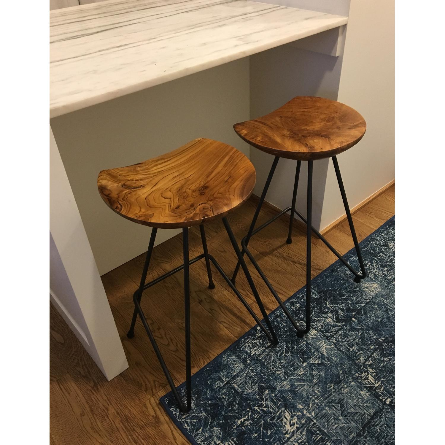 From The Source Perch Teak Bar Stool-0