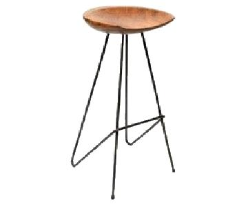 From The Source Perch Teak Bar Stool