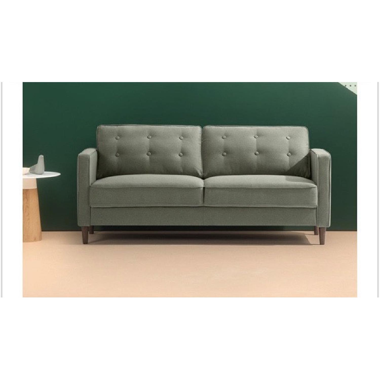 Zinus Lauren Mid-Century Button Tufted Sofa-0