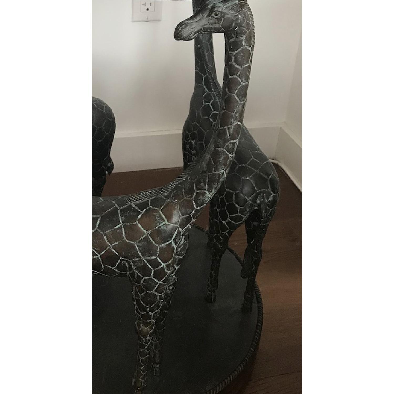 Maitland-Smith Giraffe End Table w/ Coco Shell Decor-2