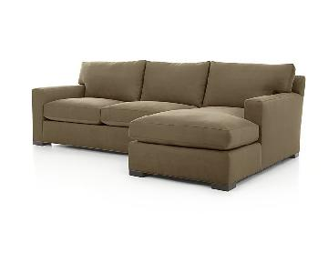 Crate & Barrel Axis II Sectional Sofa w/ Chaise