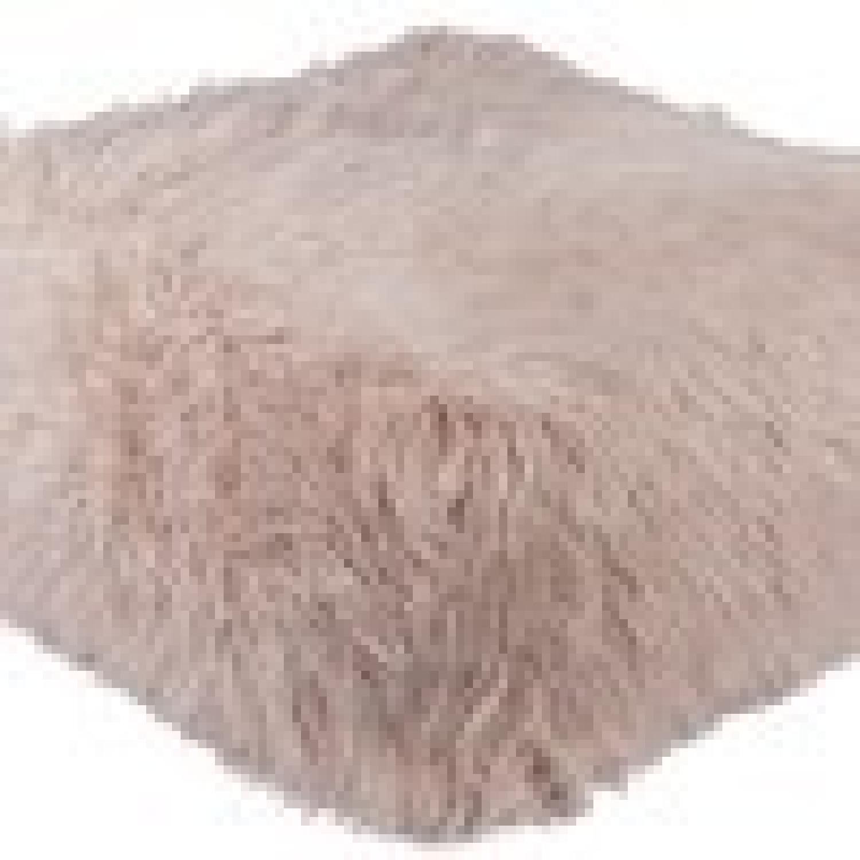 Lulu & Georgia Faux Fur Pouf in Blush-2
