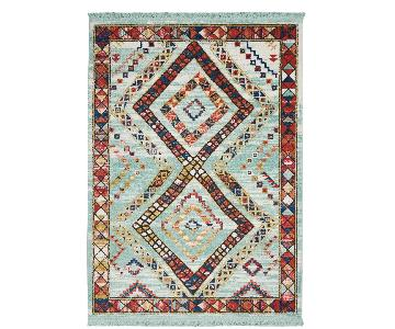 Bungalow Rose Carice Aqua/Red Area Rug