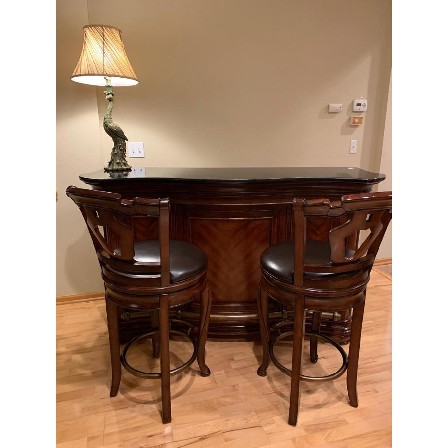 Macy's Home Bar Cabinet w/ 2 Stools-0