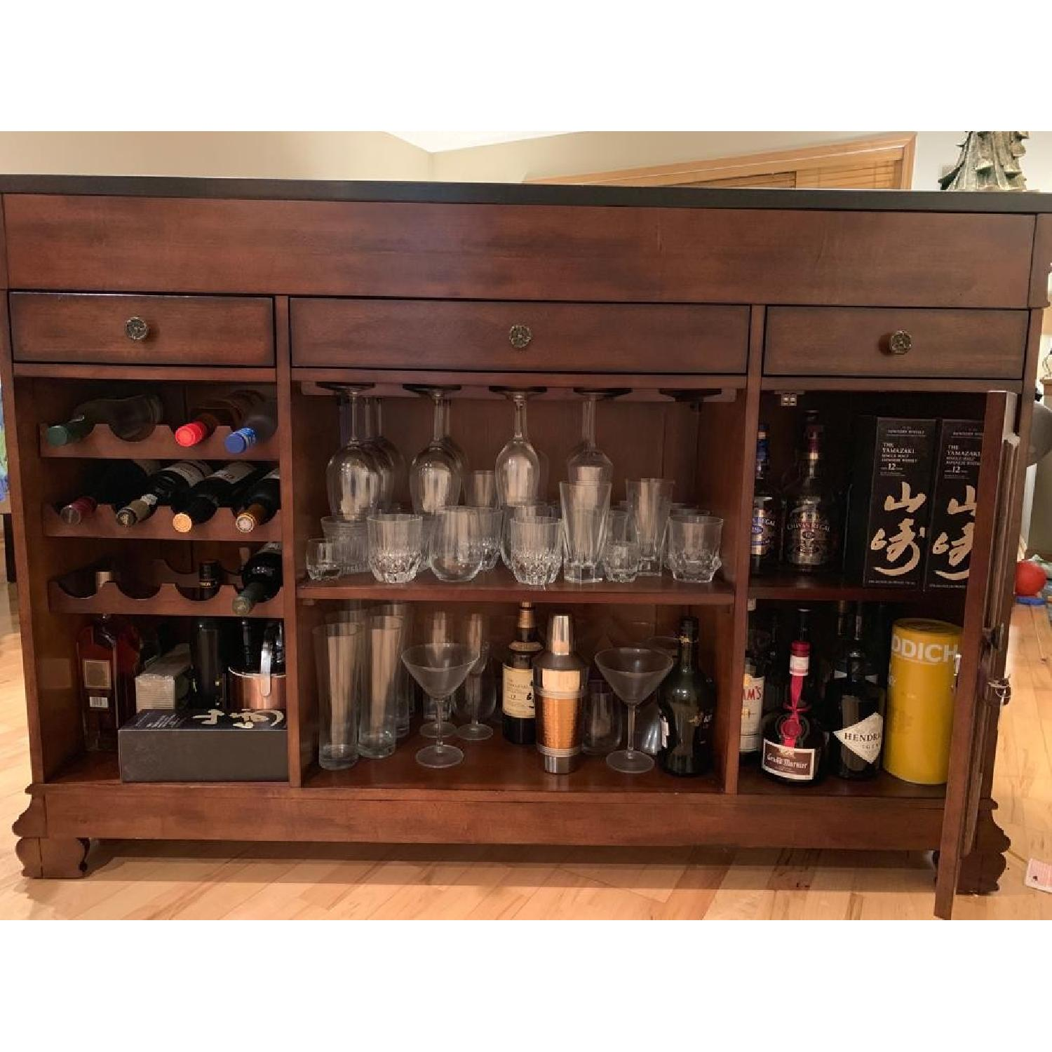 Macy's Home Bar Cabinet w/ 2 Stools-3