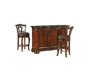 Macy's Home Bar Cabinet w/ 2 Stools