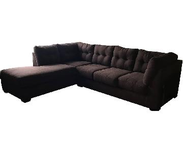 Ashley Walnut Desmond Sectional Sofa