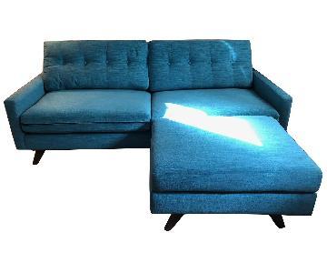 Thrive Mid-Century Apartment Size Sofa & Ottoman
