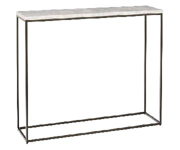 West Elm Marble & Metal Console Table