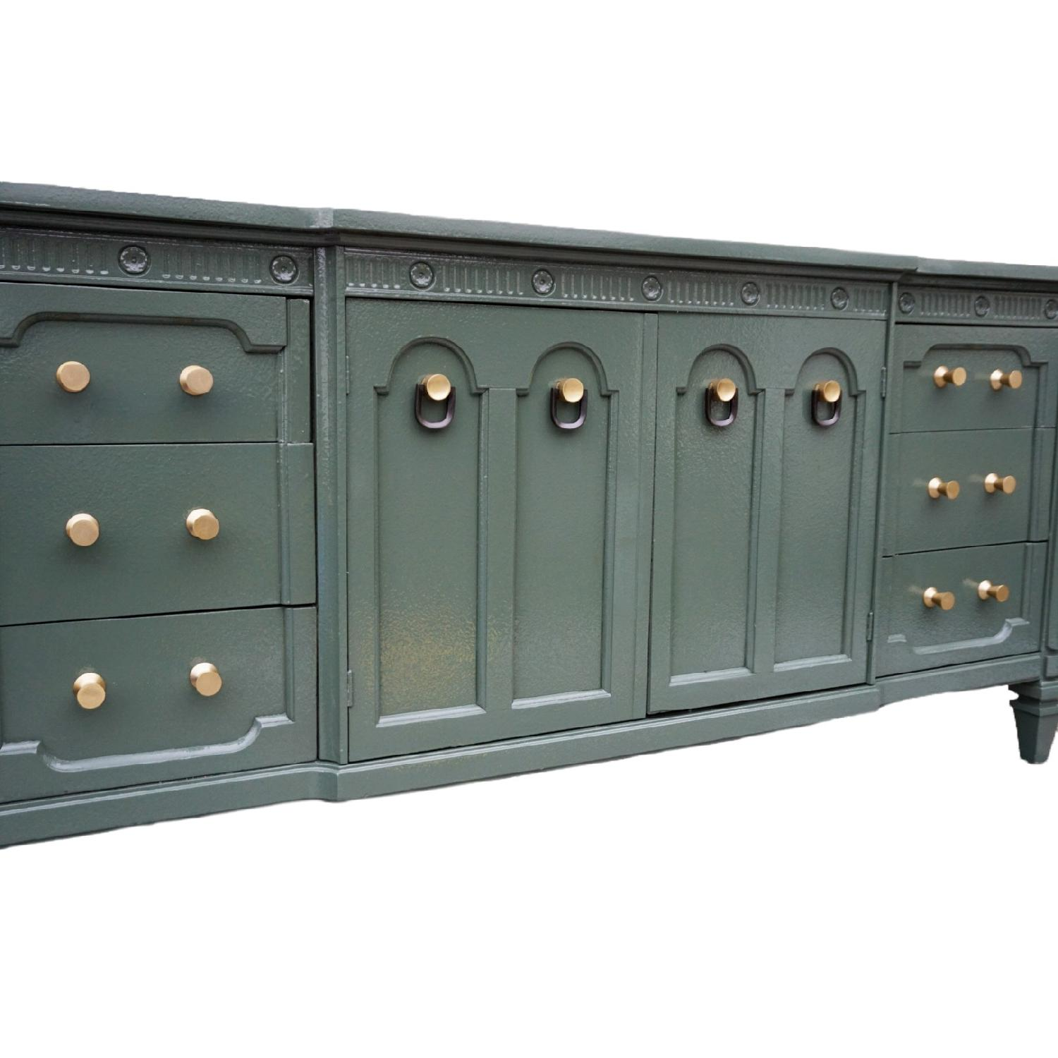 Green Lacquered Traditional Dresser/Buffet-6