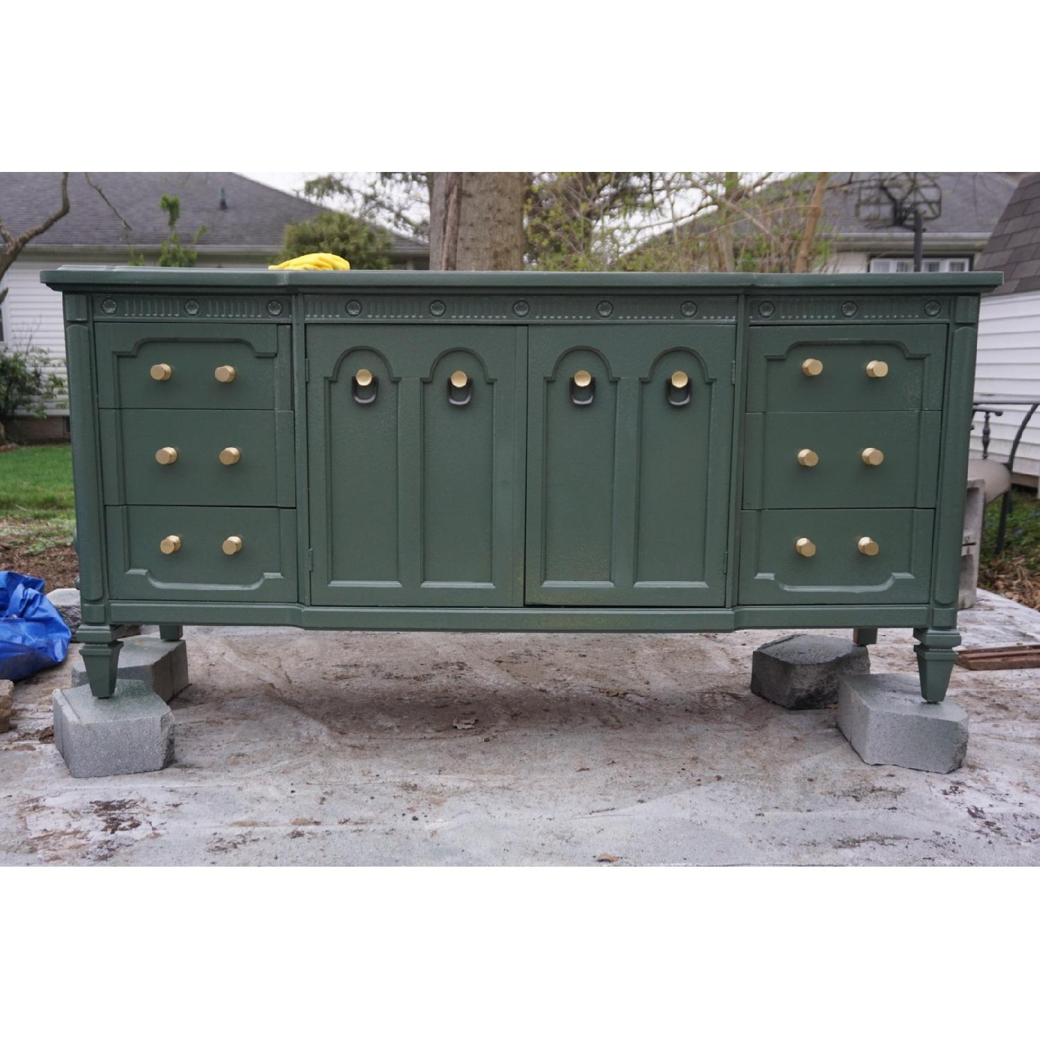 Green Lacquered Traditional Dresser/Buffet-7