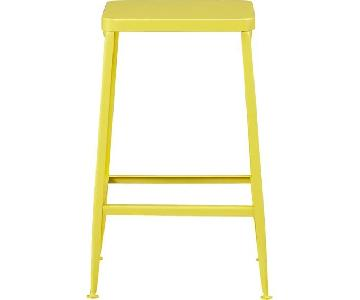 CB2 Flint Yellow Bar Stools