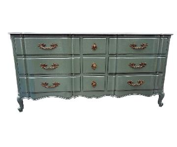 Green Lacquered Traditional Dresser/Buffet