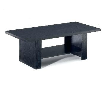 Black Oak Coffee Table + 2 End Tables