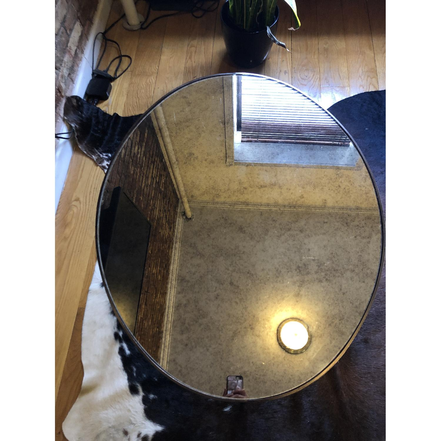 West Elm Foxed Mirror Oval Coffee Table-2