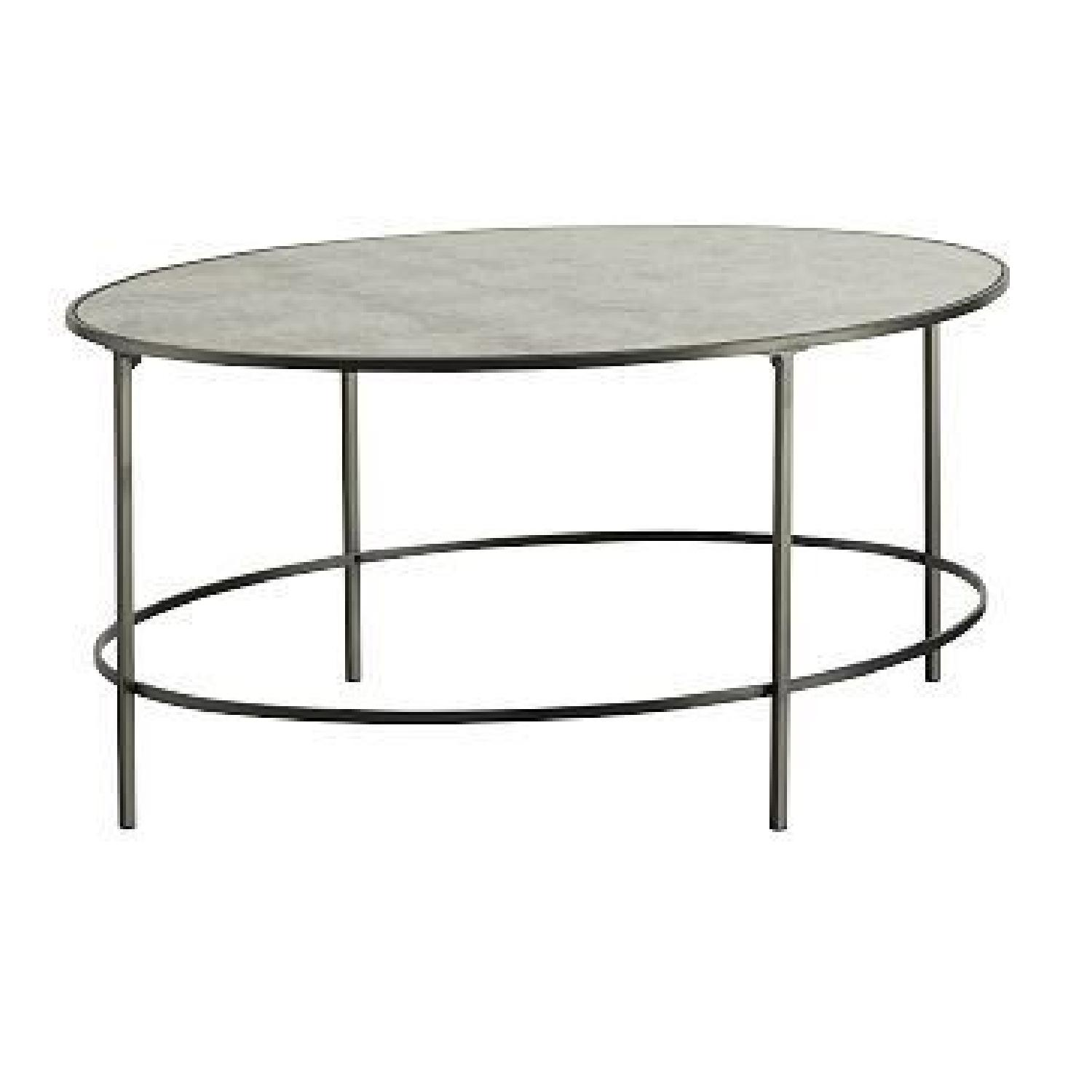 West Elm Foxed Mirror Oval Coffee Table