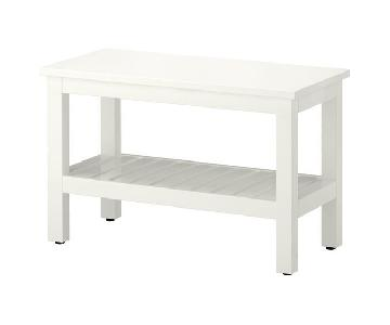 Ikea Hemnes White Bench