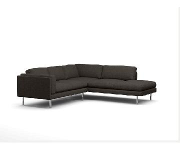 Bench Made Modern Skinny Fat Corner Sectional w/ Bumper