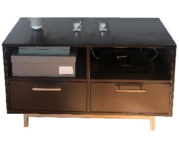 West Elm Black Media Console