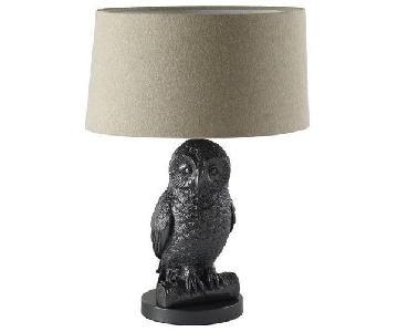 West Elm Gunmetal Owl Table Lamp