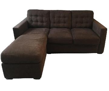 Crate & Barrel 2-Piece Sleeper Sectional Sofa