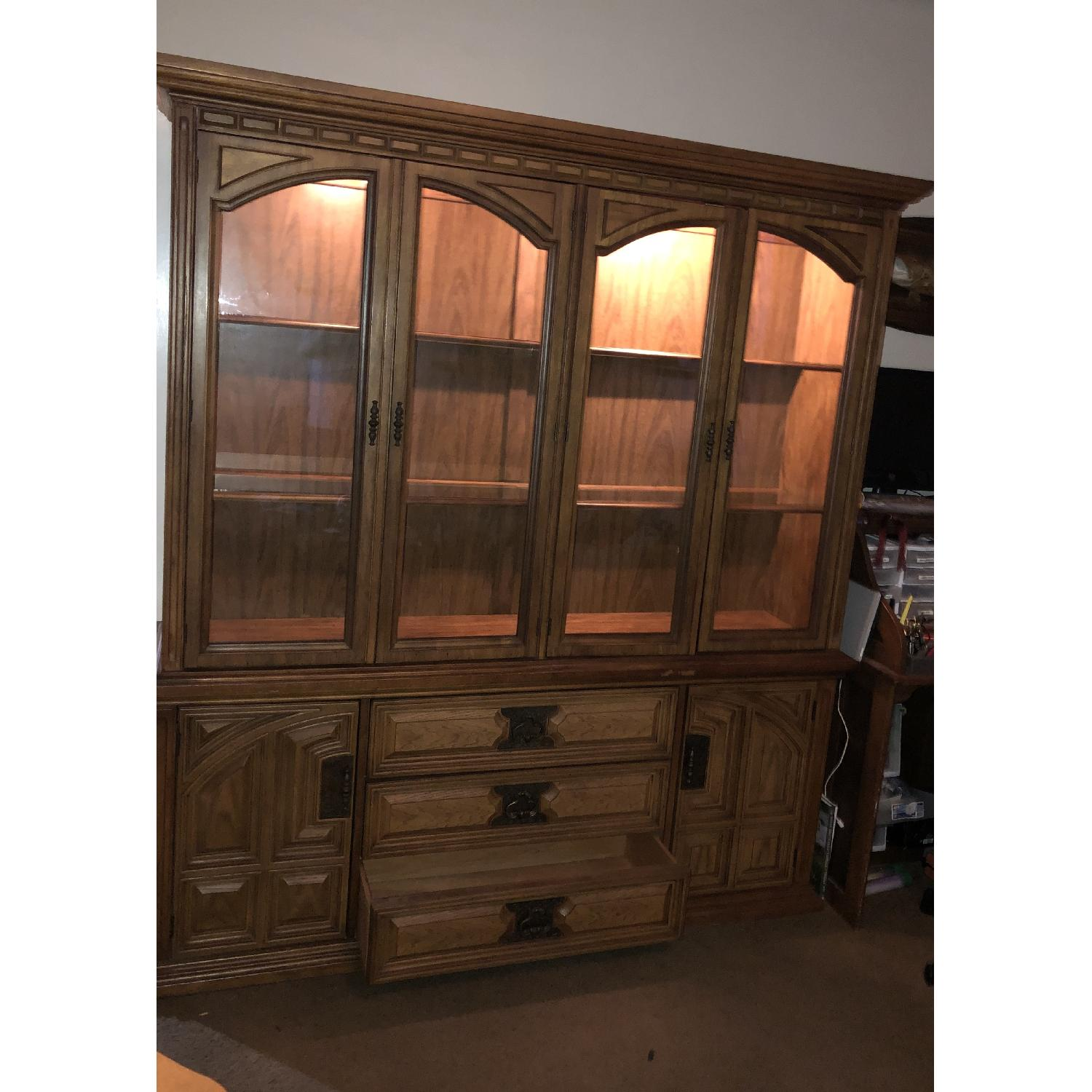 Bassett Furniture Industries Lighted China Cabinet-1