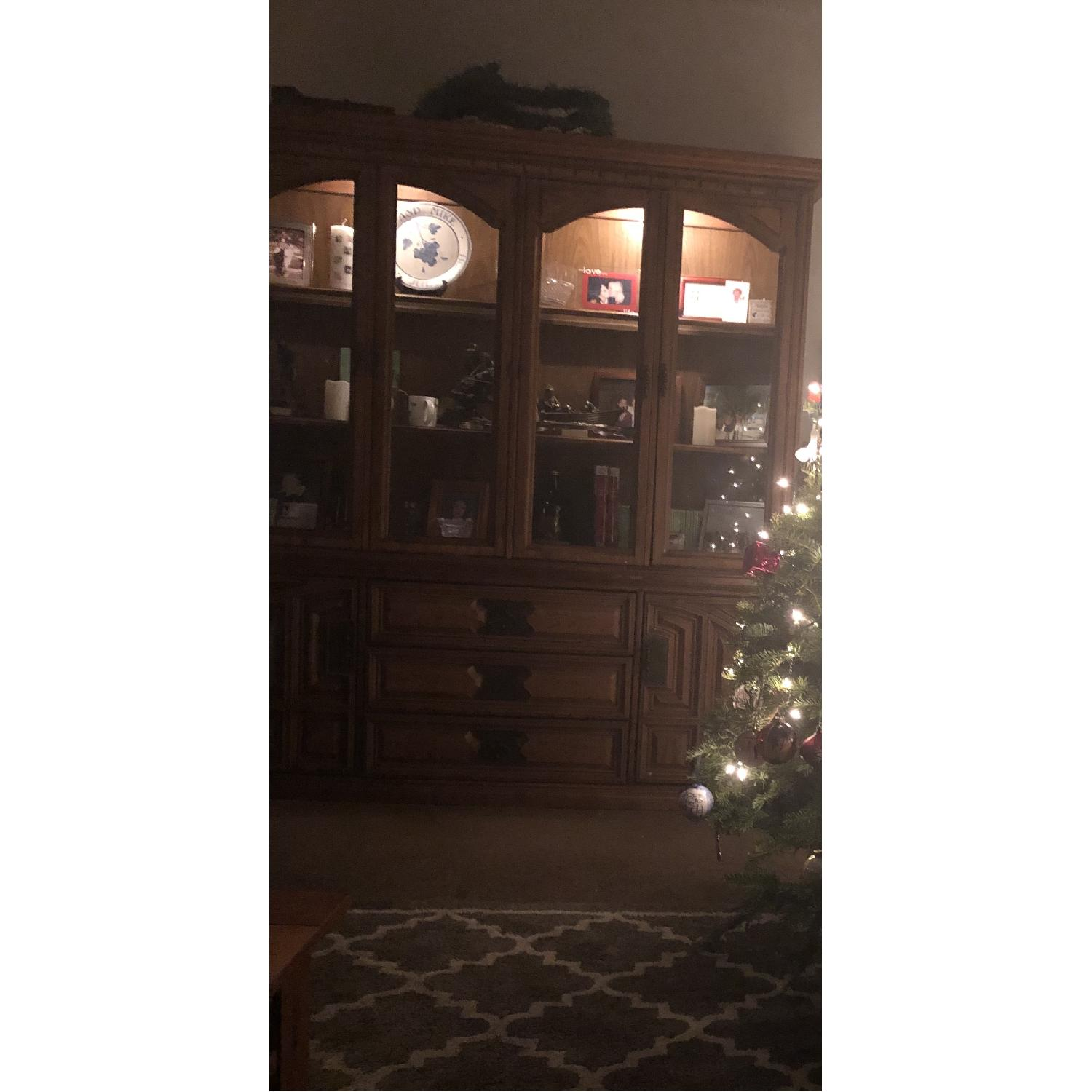 Bassett Furniture Industries Lighted China Cabinet-2