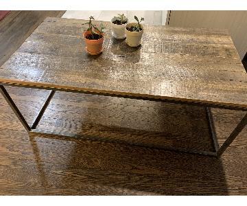Etsy Industrial Reclaimed Wood & Steel Coffee Table