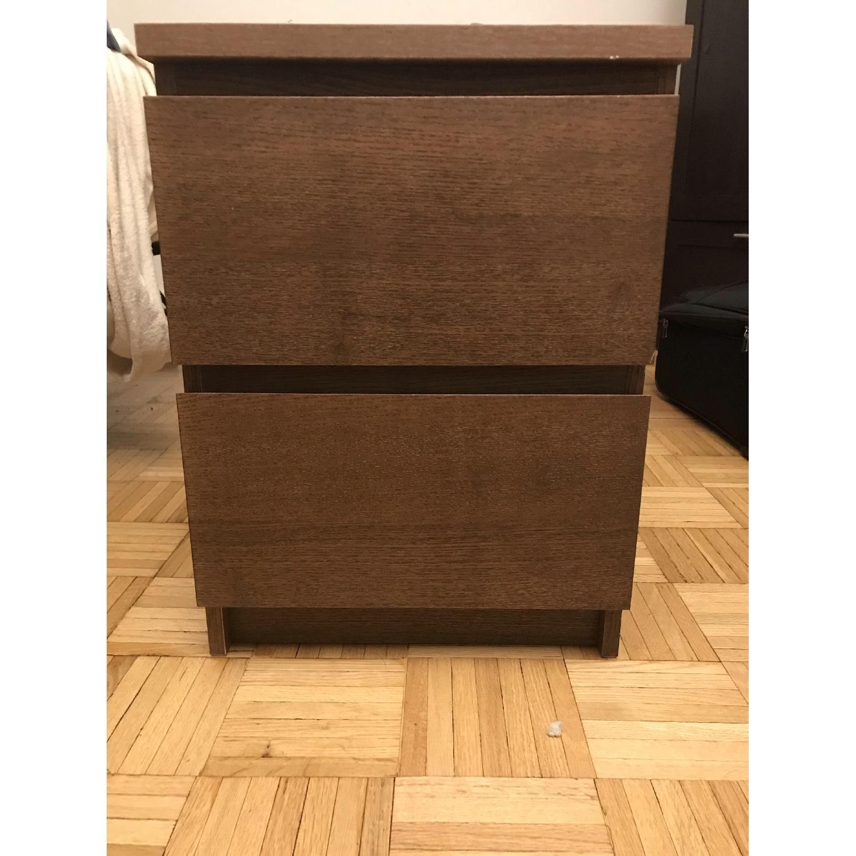 Ikea Malm 2 Drawer Nightstand-0