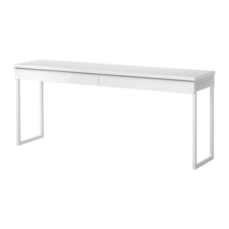 Ikea Besta 2 Drawer White Desk/Console Table