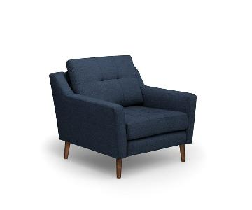 Burrow Arm Chair & Ottoman