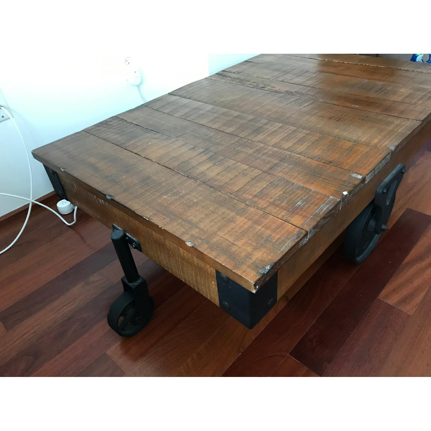Coaster Distressed Country Wagon Coffee Table - image-4