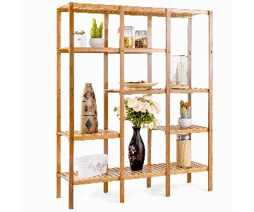 Costway 5-Tier Bamboo Bookshelf