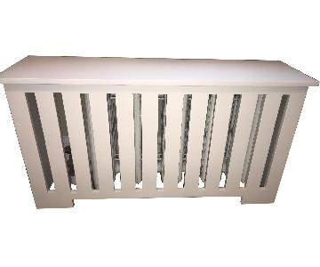 Custom White Wood Radiator Cover