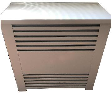 White Metal Radiator Cover