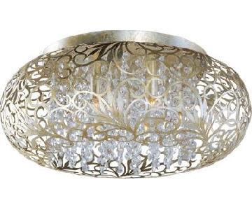 Elements Distinctive Lighting Metal Patterned Flushmount