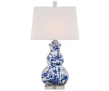 Shades of Light Blue & White Table Lamp