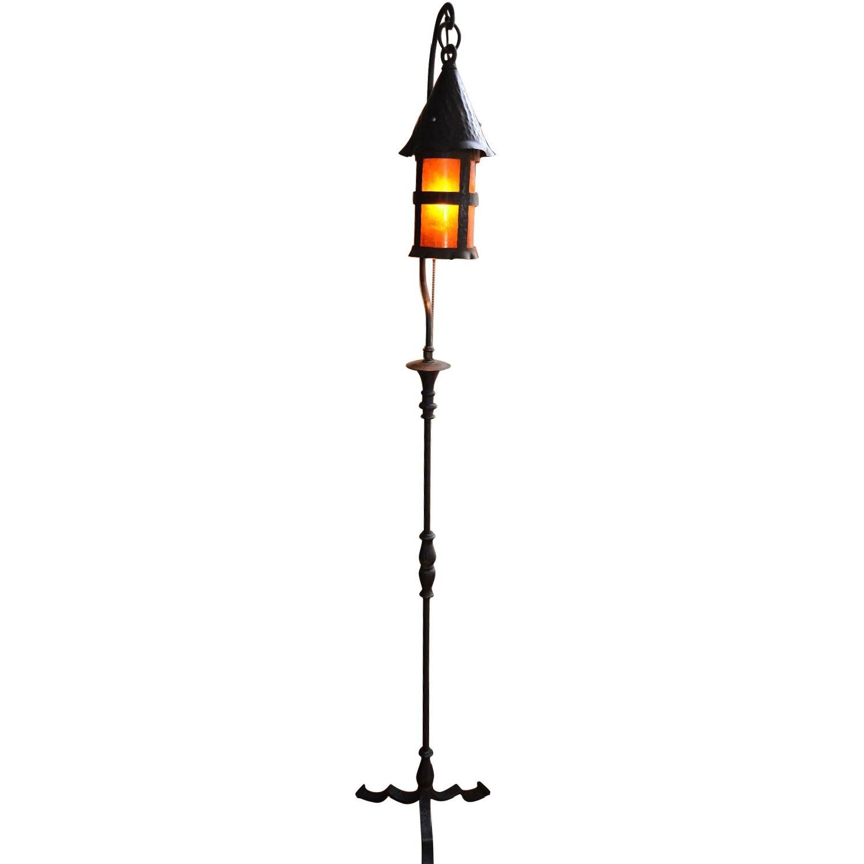 Arts & Crafts Hand Hammered Floor Lamp