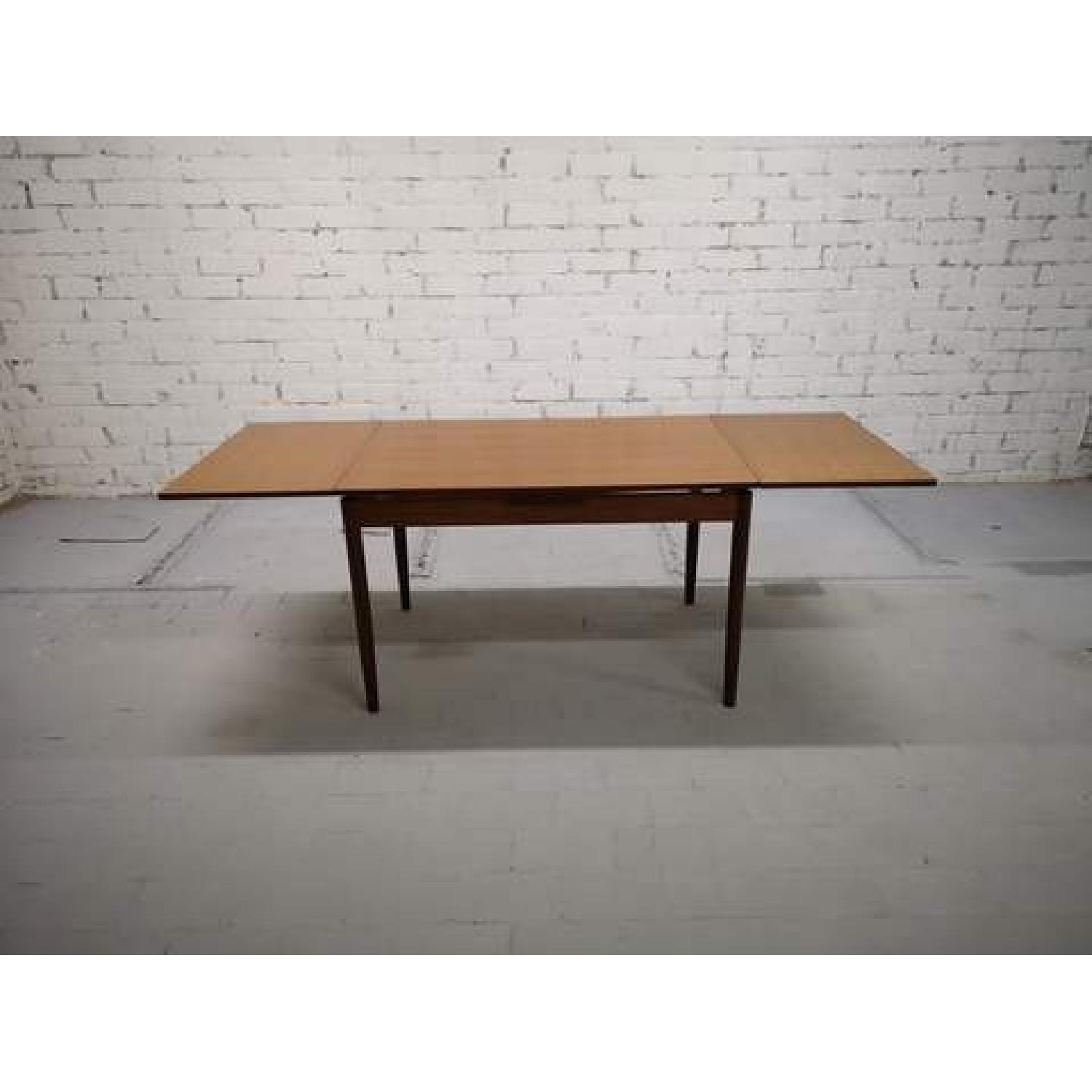 Mid-Century Modern Danish Extendable Draw Leaf Dining Table-0