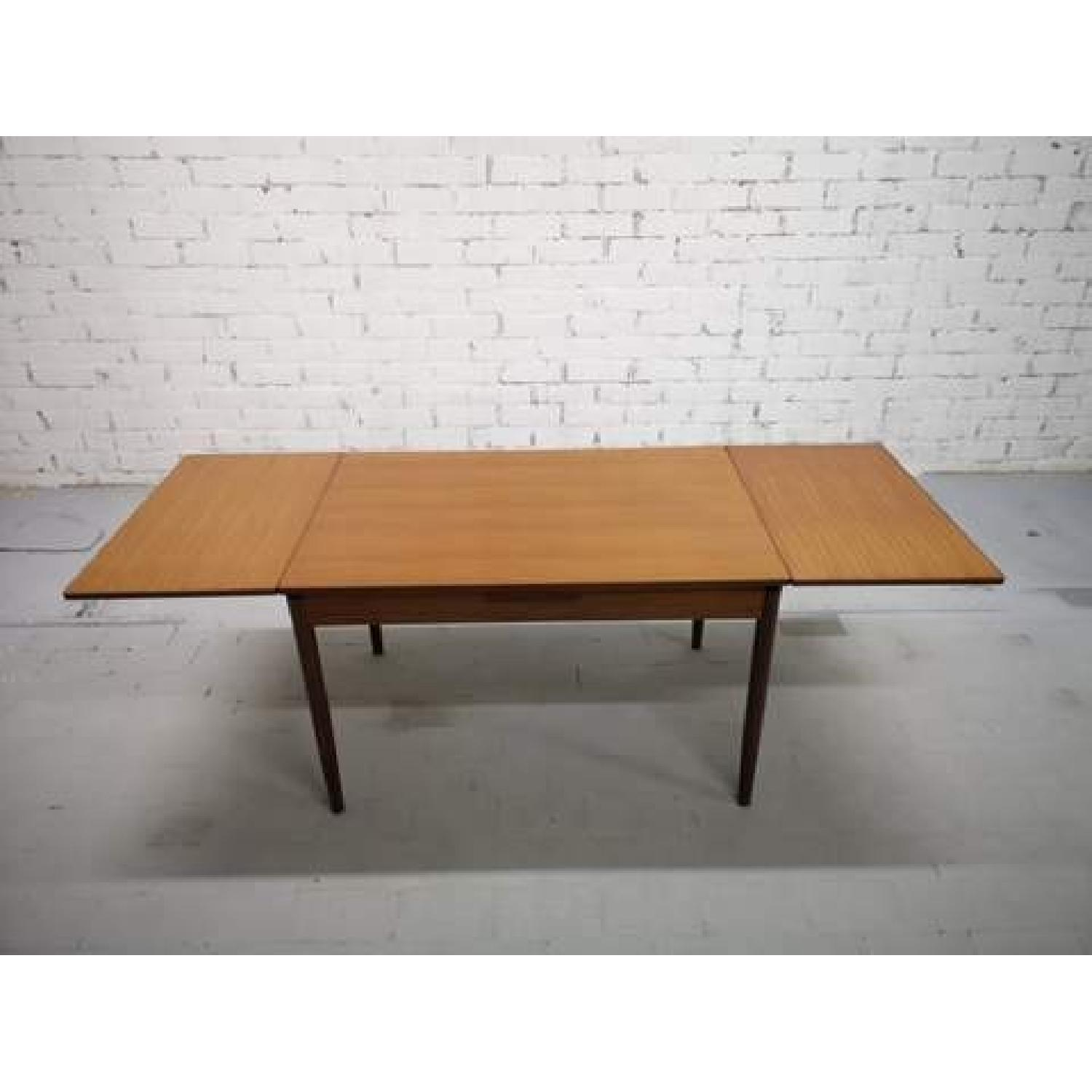 Mid-Century Modern Danish Extendable Draw Leaf Dining Table-1