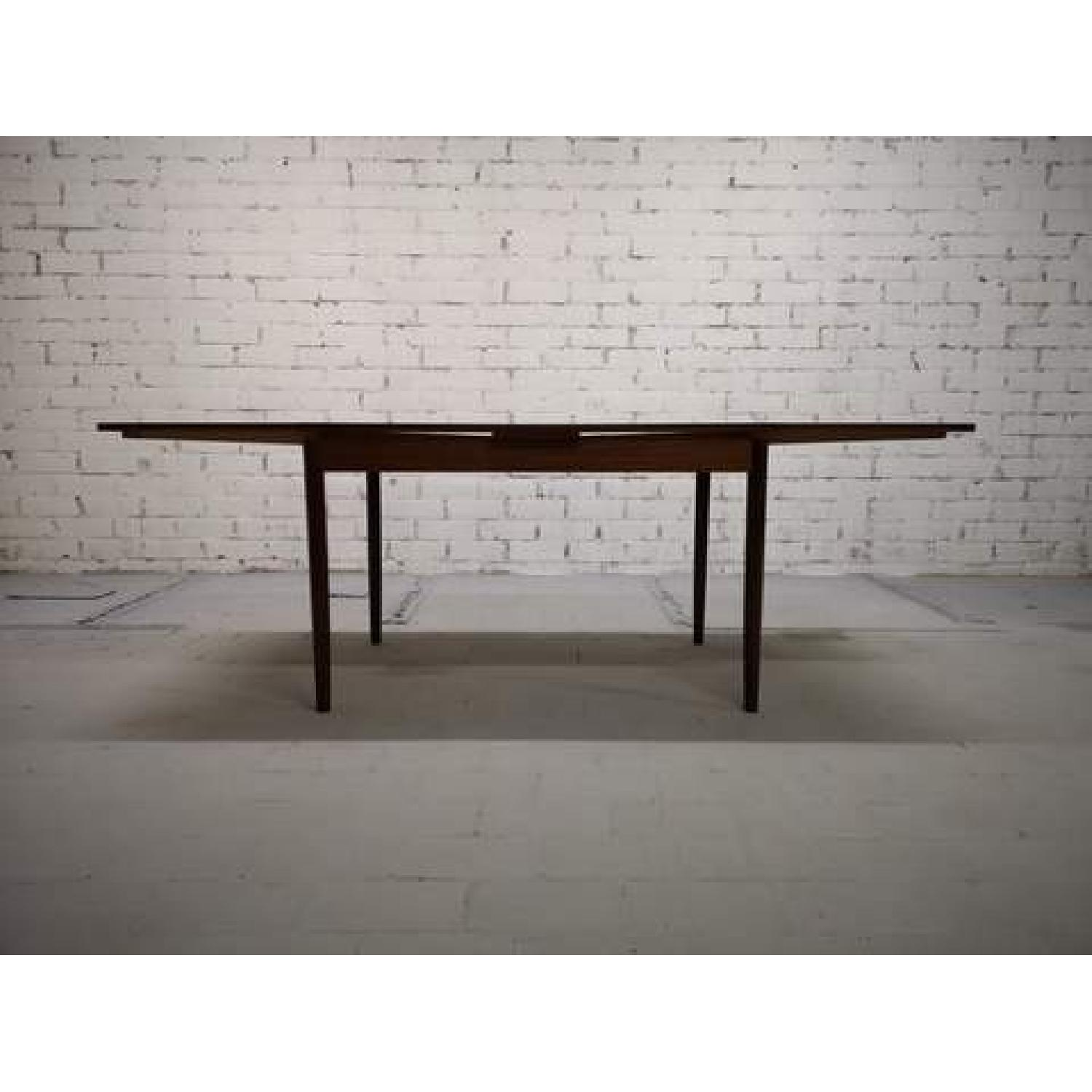 Mid-Century Modern Danish Extendable Draw Leaf Dining Table-2
