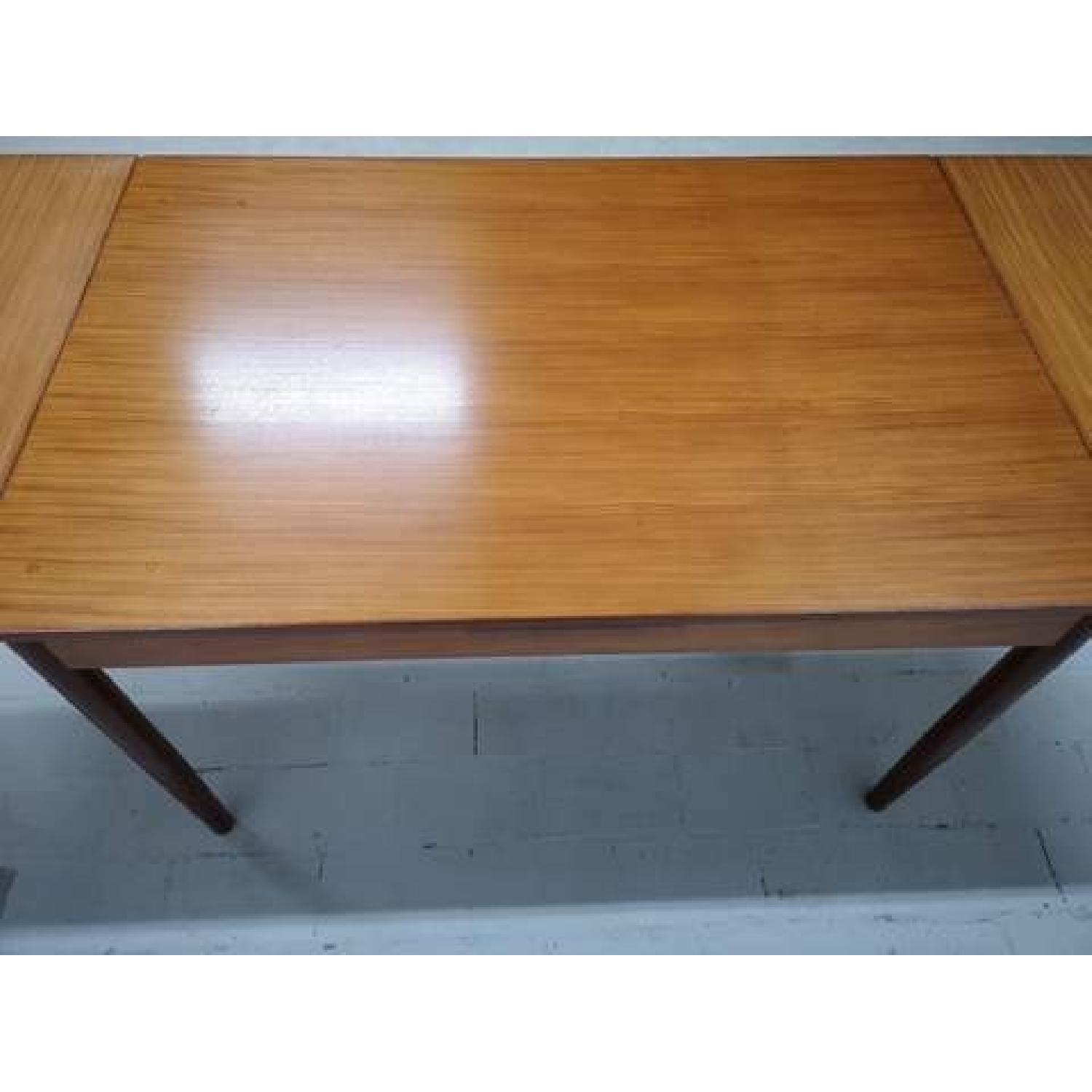 Mid-Century Modern Danish Extendable Draw Leaf Dining Table-4