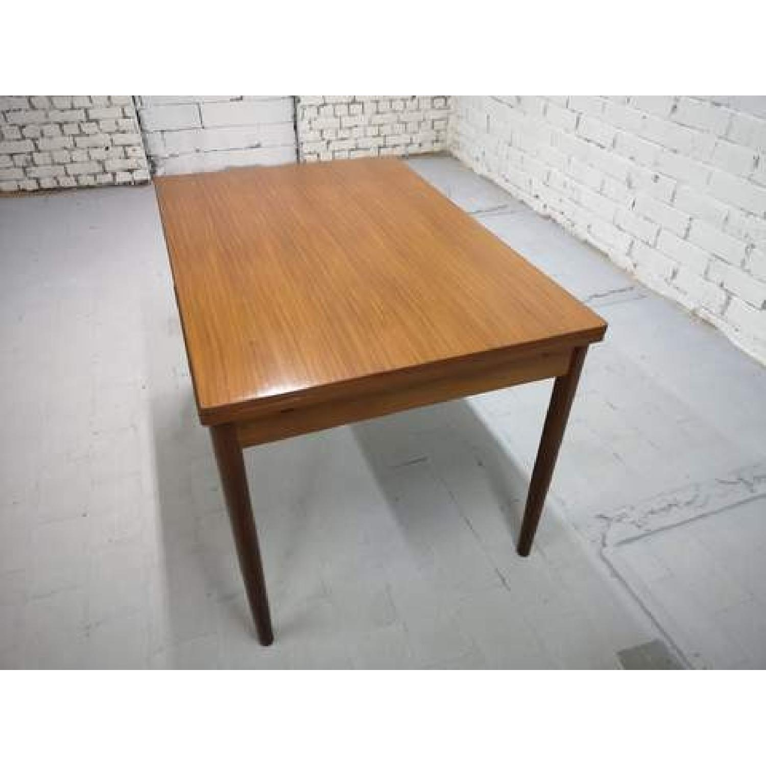 Mid-Century Modern Danish Extendable Draw Leaf Dining Table-7