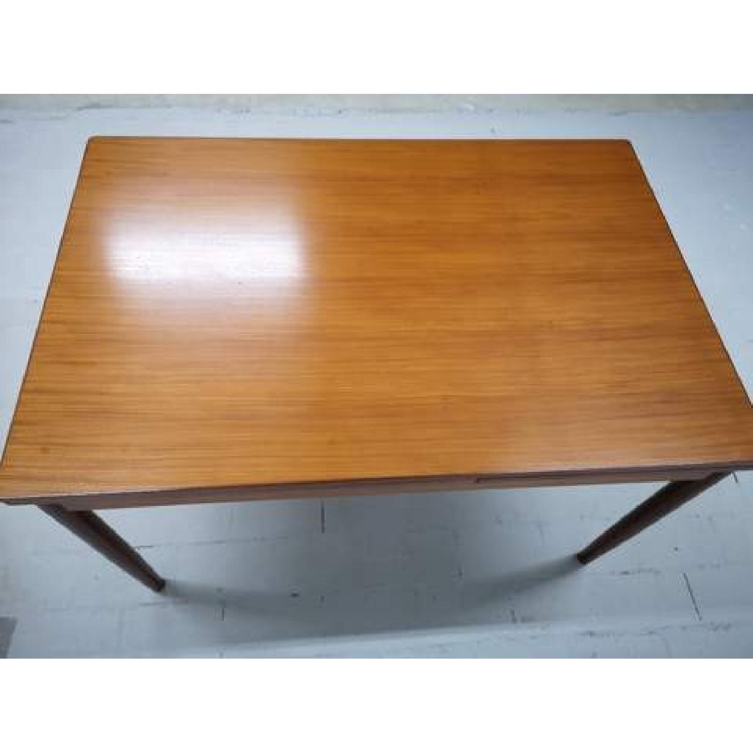 Mid-Century Modern Danish Extendable Draw Leaf Dining Table-8