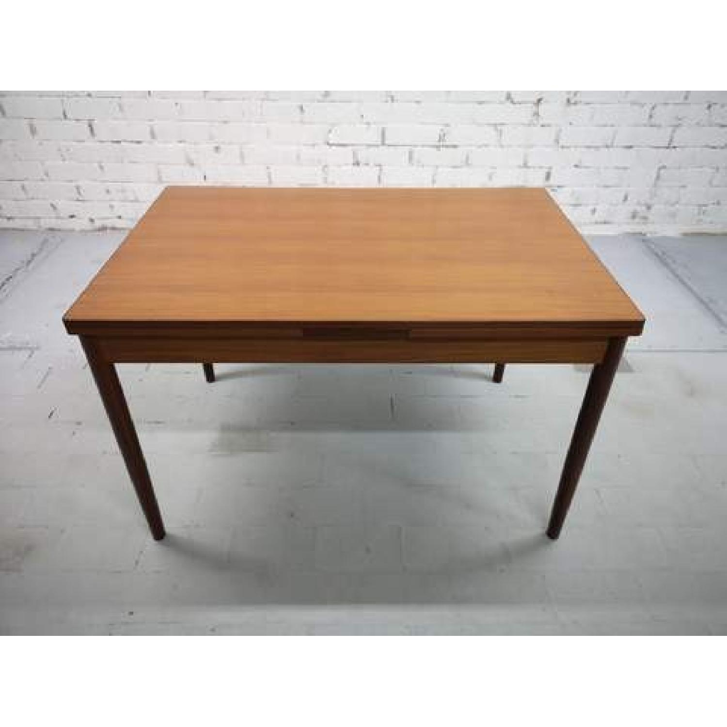 Mid-Century Modern Danish Extendable Draw Leaf Dining Table-9