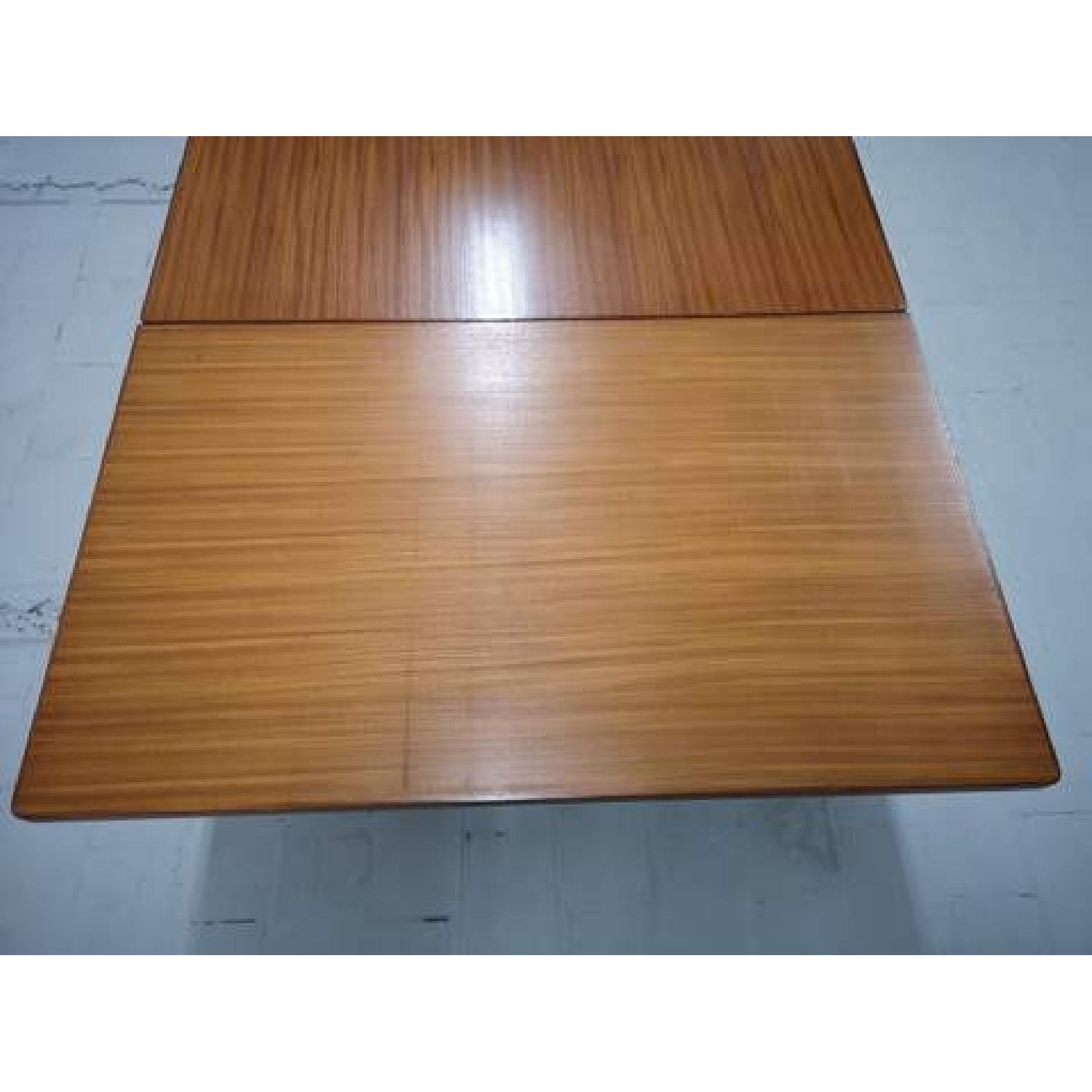 Mid-Century Modern Danish Extendable Draw Leaf Dining Table - image-11