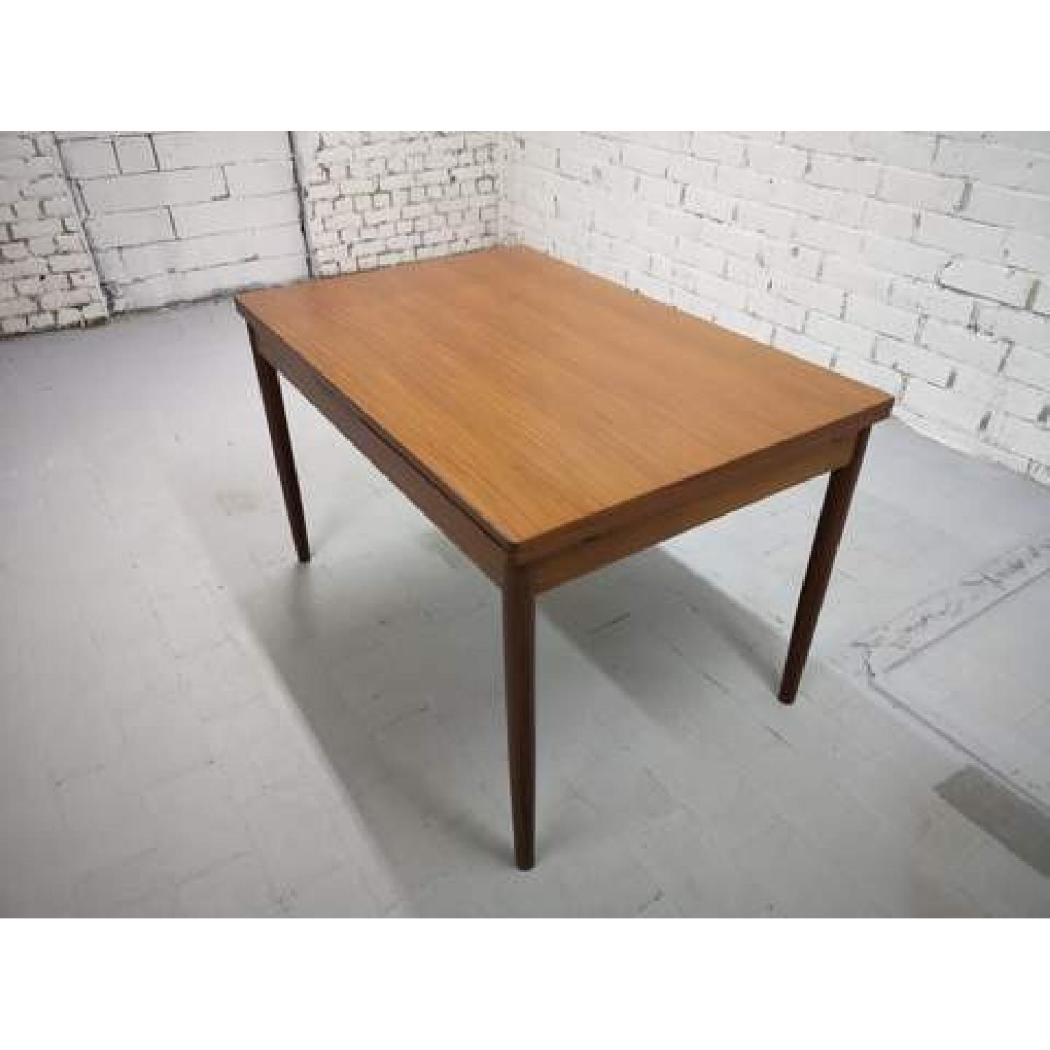Mid-Century Modern Danish Extendable Draw Leaf Dining Table-11